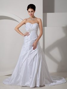 Beautiful Sweetheart Ruched Lace-up Wedding Dresses for Summer