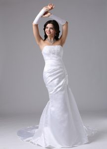 Strapless and Lace Romantic Wedding Bridal Dress for Girls for Custom Made