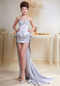 2013 Lilac Sweetheart High-low Beaded Prom Party Dress in for Cheap