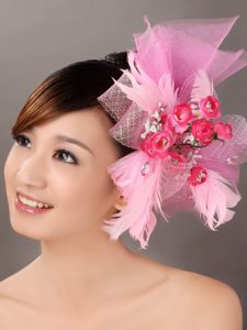 Pink Tulle Feather Gorgeous Special Occasion Fascinators