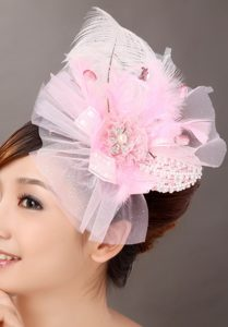 Sweet Tulle Feather Side Clamp Diamond Hairpins Birdcage Veils