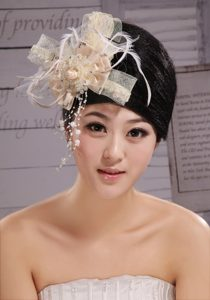 Headpieces Champagne Feathers With High Quality Best Sale 2013