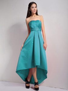 Lovely A-line Strapless High-low Prom Dress with Appliques on Wholesale Price