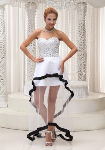 Sweetheart Long Tulle Prom Homecoming Dress with Beading for Cheap
