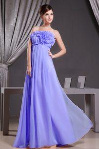 Purple Elegant Strapless Womens Holiday Dresses