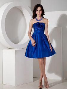 Strapless Royal Blue Holiday Dresses for Valentine