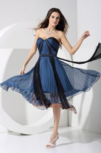 Two-toned Sweetheart with Bowknot 2014 Graceful Holiday Dress Pleats Accent