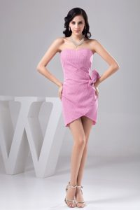 Check Pattern Ruching and Bowknot Attractive Sweetheart Dresses for Holiday