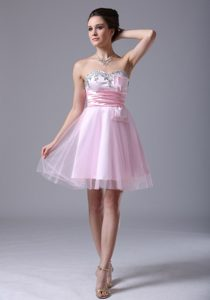 Sweetheart Long Pink Tulle Fabulous Homecoming Dresses for Juniors
