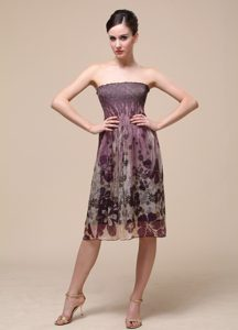 Discount Strapless Knee-length Homecoming Dresses On Sale in Multi-color