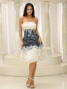Tulle Custom Made Appliques Decorated Waist Celebrity Homecoming Dress in Knee