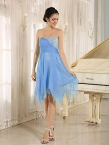 2013 Sweetheart Short Light Blue Homecoming Cocktail Dresses with Beaded Bodice