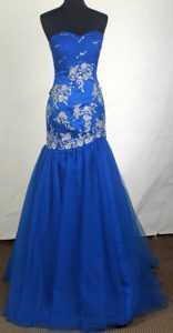 Beautiful Mermaid Sweetheart Prom Pageant Dress with Appliques on Promotion