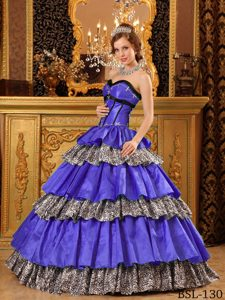 Popular Sweetheart Purple Dress for Quince in with Ruffles for Cheap