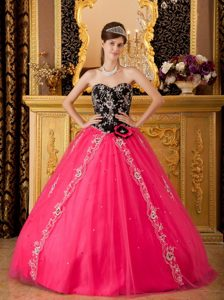 Hot Pink A-line Sweetheart Quinceanera Dress with Beading on Sale