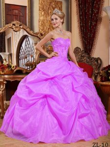Purple Ball Gown Strapless Appliqued Quinceanera Formal Dresses in Organza