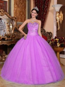 New Hot Pink Sweetheart Tulle and Quinceanera Dress with Beading