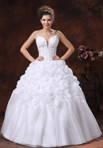 Perfect Spaghetti Straps Appliques Wedding Reception Dress with Pick-ups