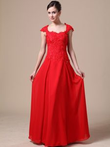 Romantic Square Red Military Dresses for Party in Long under 150
