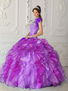 Wonderful Strapless Long Satin and Organza Sweet 15 Dresses for Fall