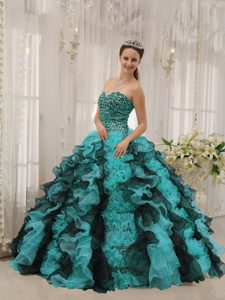 Unique Sweetheart Lace-up Beaded Quinceanera Gown Dresses in Multi-color