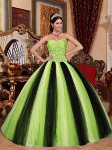 Classical Beaded and Tulle Dresses for Quinceaneras in Multi-color