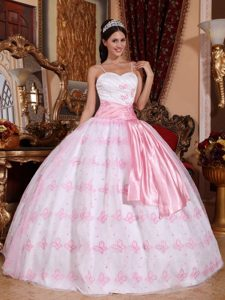 Memorable Light Pink Long Sweet 16 Dresses with Spaghetti Straps