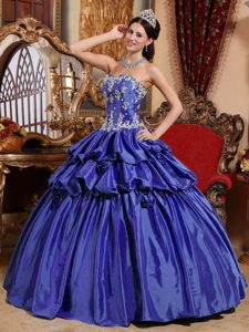 2012 Magnificent Sweetheart Long Blue Dress for Quinceanera