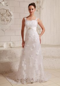 Luxurious Sweetheart Women Wedding Dresses with Straps and Lace Up Back