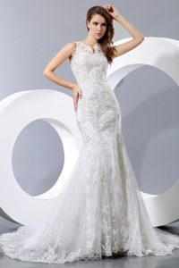 Luxurious Mermaid Dresses for Wedding in and Lace with Cool Neckline