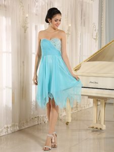 Aqua Blue Short Homecoming Dress for Prom with Beading Best Seller