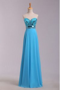 Vintage Sleeveless Beading and Belt Zipper Formal Dresses