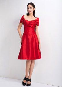 Impressive Red A-line Sweetheart Knee-length Bridesmaid Dress 2013