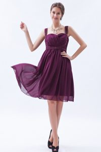 2013 Dark Purple Empire Straps Chiffon Dresses for Bridesmaid with Beading