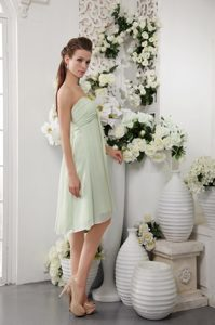 Elegant Apple Green Strapless Knee-length Maid of Honor Dresses