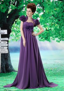 Beautiful Pageant Dresses for Toddlers in Purple with Court Train under 150
