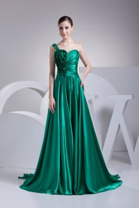 2012 Elegant One Shoulder Turquoise Little Girls Formal Dresses under 200