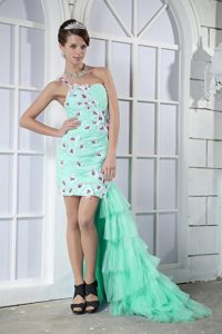 2013 Discount Apple Green One Shoulder High-low Toddler Pageant Dresses