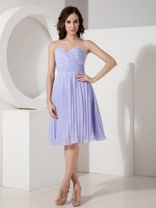 Custom Made Lilac Sweetheart Dress for Party with Pleats for Cheap
