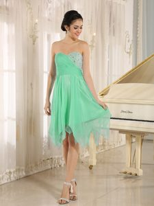 Green Sweetheart Short Party Prom Dress with Beading Best Seller