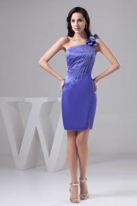 Lavender one Shoulder Evening Party Dresses with Bowknot and Beading