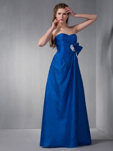 Sweetheart Maid of Honor Dresses in Royal Blue with White Appliques
