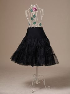 Brand New Black Organza Tea-length Wedding Petticoat