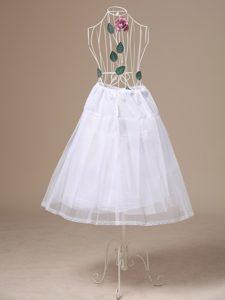 White Tulle Tea-length Unique Wedding Petticoat
