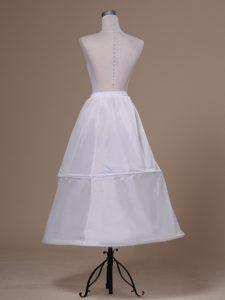 White Ankle-length Taffeta Petticoat