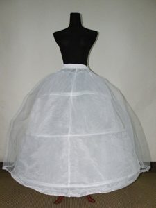 White Tulle And Organza Floor-length Petticoat For Ball Gowns