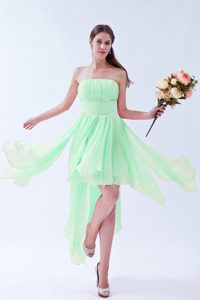 Popular Apple Green Asymmetrical Ruched Prom Dress for Women under 150