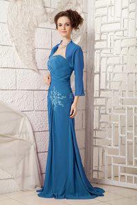 Navy Blue One Shoulder Appliqued Memorable Dresses for Prom Princess