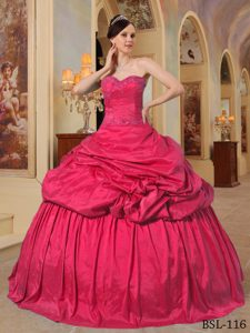 Sweetheart Beaded Quinceanera Gown Dress with Pick-ups on Promotion