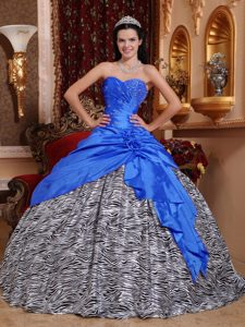 Sweetheart Beaded Dress for Quinceanera and Zebra